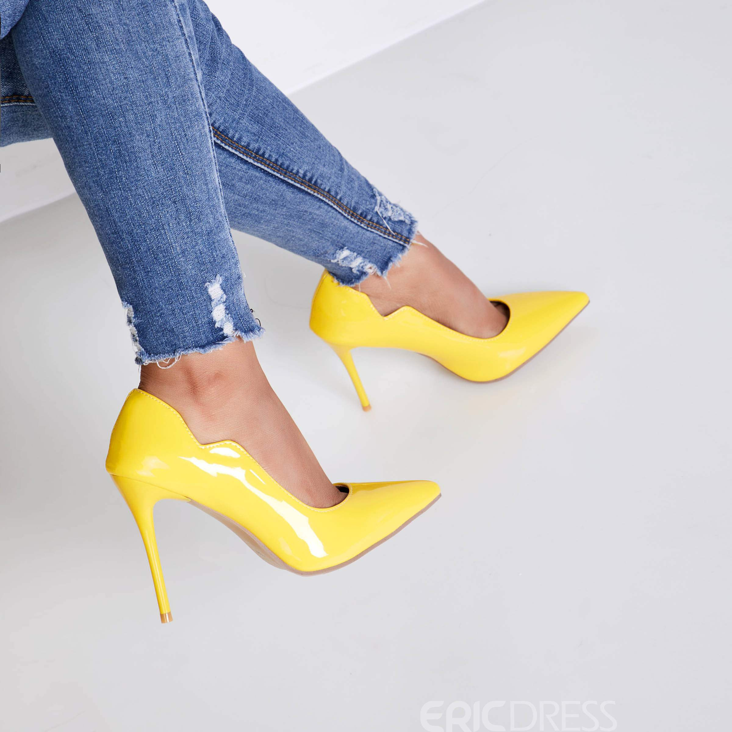 Ericdress Special Bright Point Toe Pumps