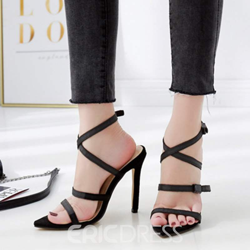 Ericdress Stiletto Heel Buckle Strappy Women's Sandals