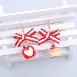 Ericdress Christmas Apple Earring