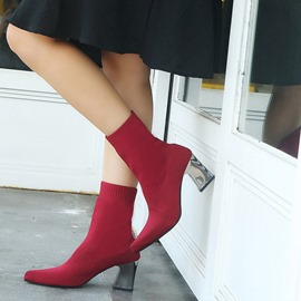 Ericdress Pointed Toe Slip-On Plain Women's Ankle Boots