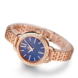 Ericdress Round Diamante Watch For Women