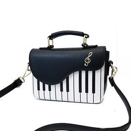 Ericdress Embroidery PU Flap Piano Tote Bags