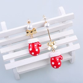 Ericdress Christmas Gloves Alloy Earring