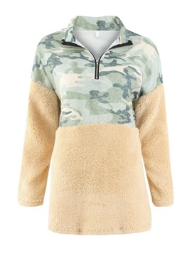 Ericdress Patchwork Fall Round Neck Hoodie