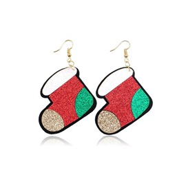 Ericdress Christmas Stocking Earrings