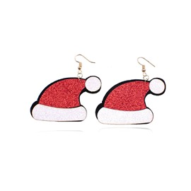 Ericdress Christmas Hat Earrings