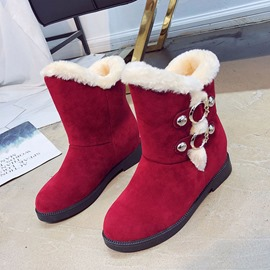 Ericdress Round Toe Hidden Elevator Heel Women's Winter Boots