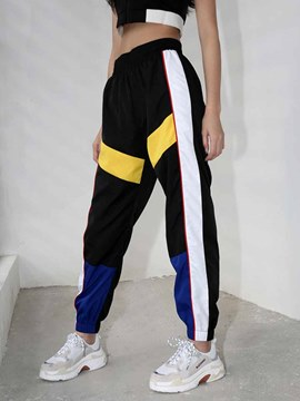 Ericdress Color Block Breathable Polyester Pockets Basketball Pants