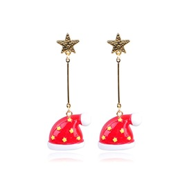 Ericdress Christmas Hat Earring