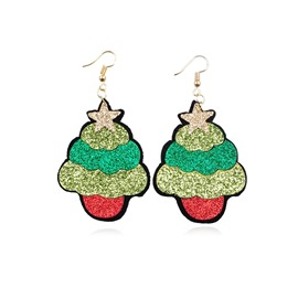 Ericdress Christmas Trees Star Earrings