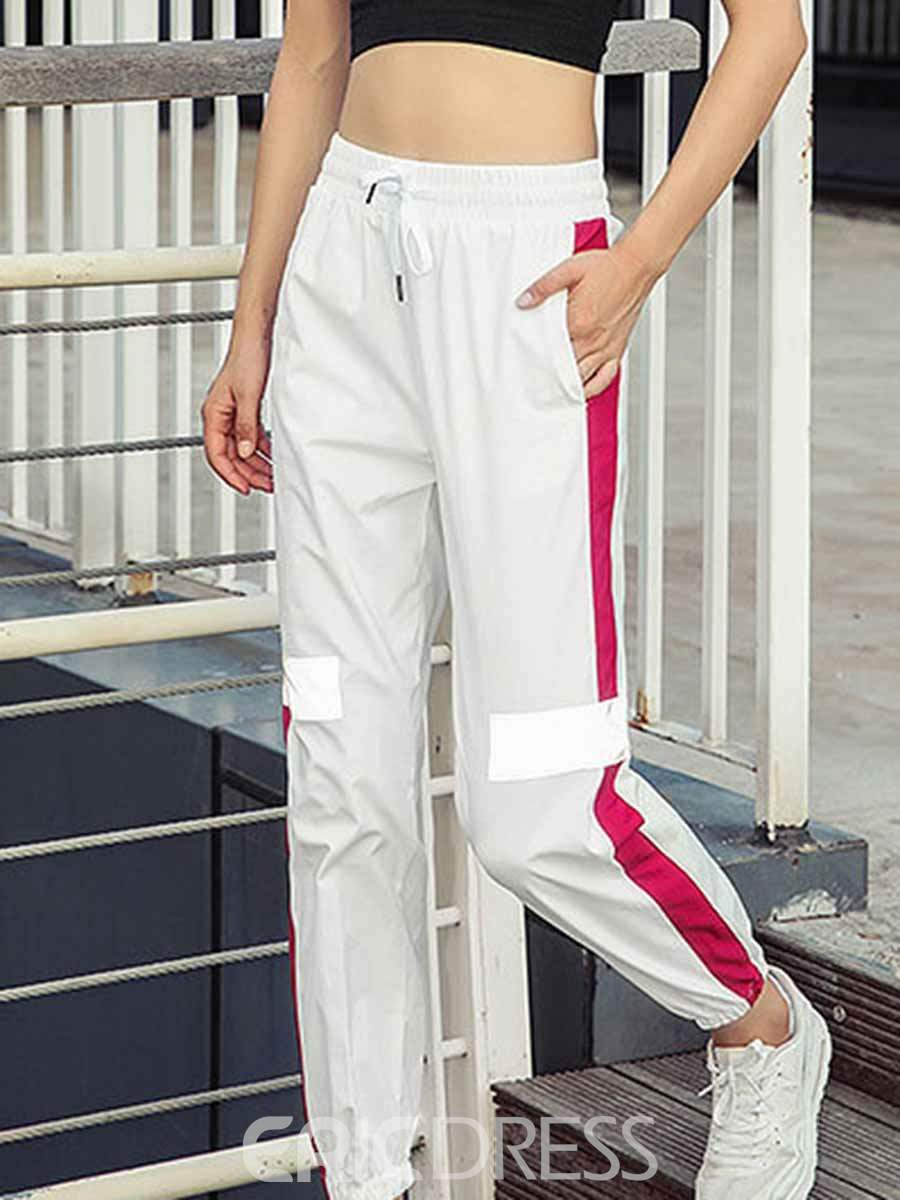 Ericdress Nylon Breathable Pockets Stripe Street Dance Pants