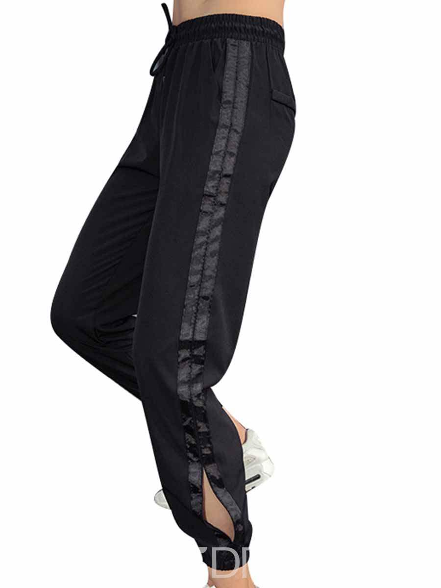 Ericdress Quick Dry Polyester Print Stripe Yoga Pants