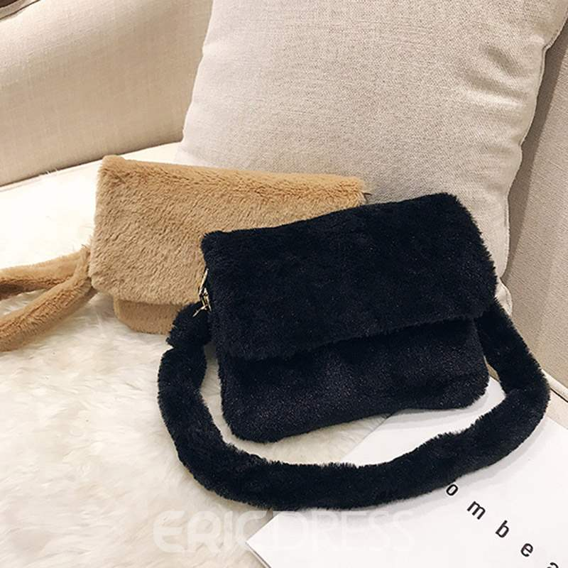 Ericdress Plain Thread Rectangle Shoulder Bags