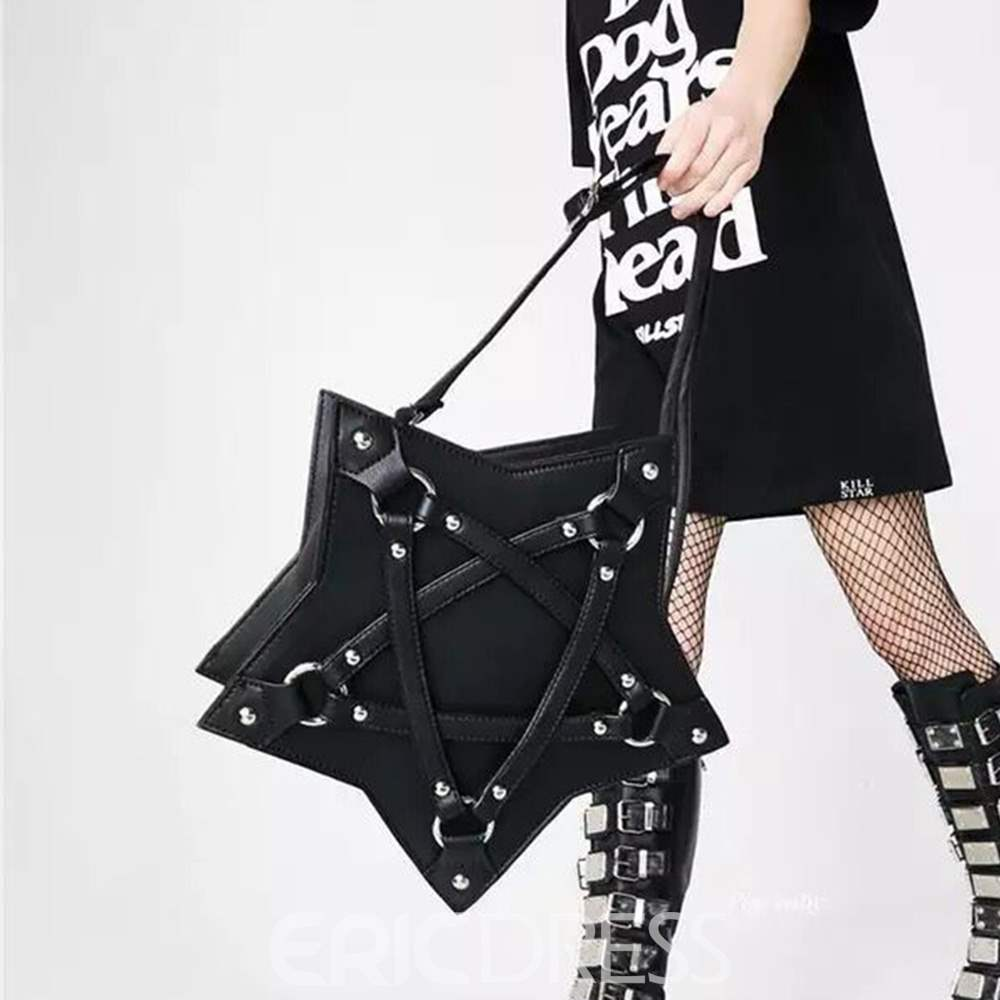 Ericdress Darkly Star Geometric PU Rivet Tote Bags