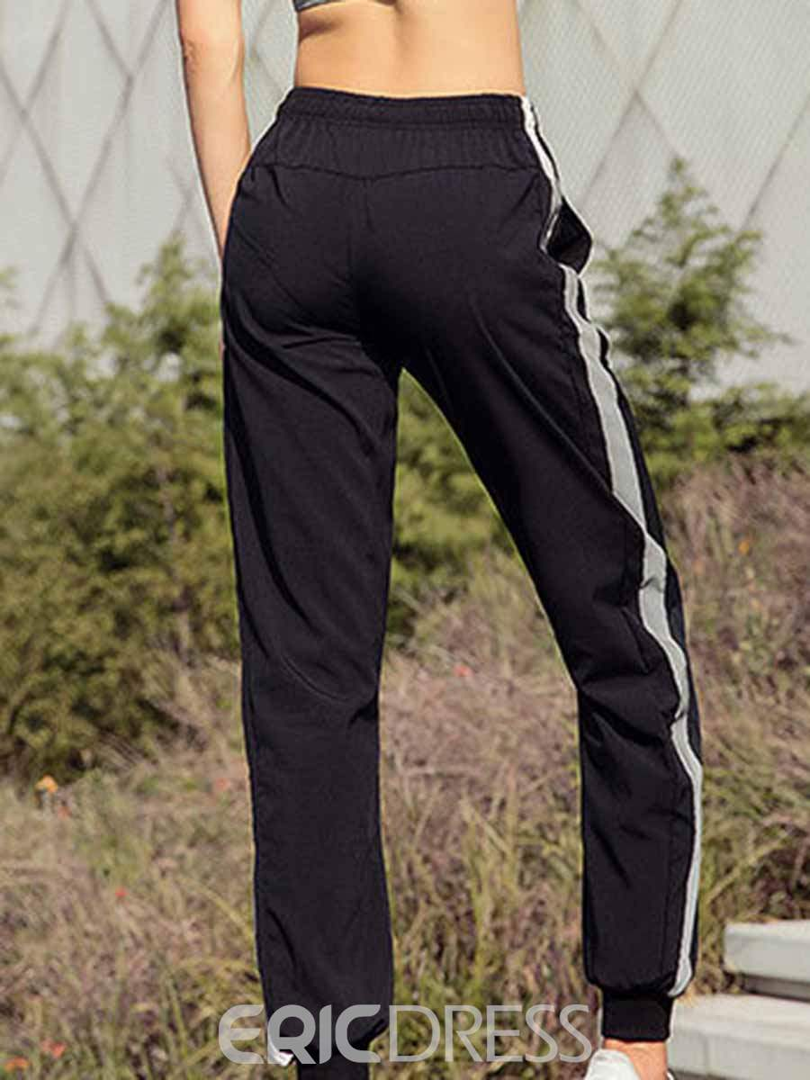 Ericdress Breathable Polyester Pockets Stripe Ping-Pong Pants
