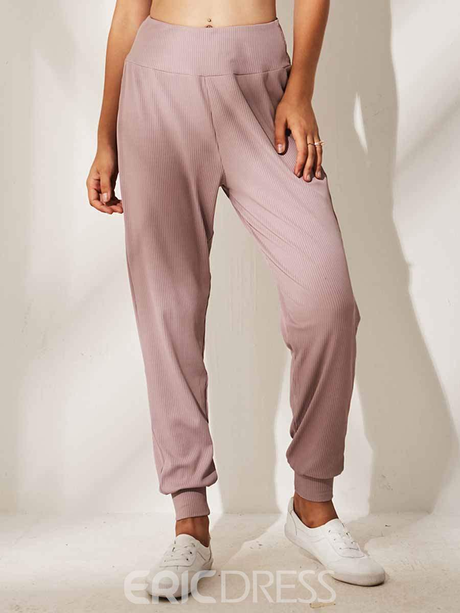 Ericdress Solid Quick Dry Polyester Yoga Pants