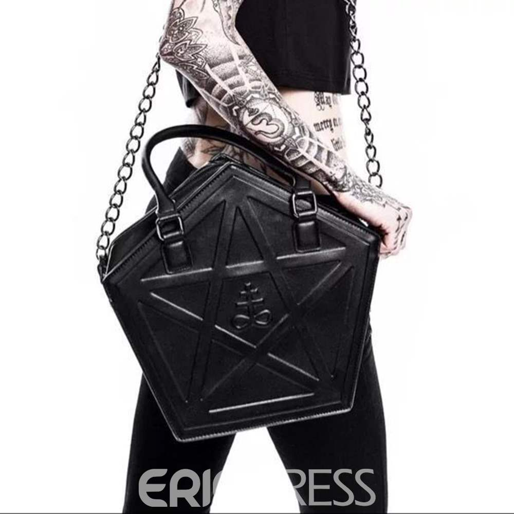 Ericdress Gothic Style Geometric PU Thread Tote Bags