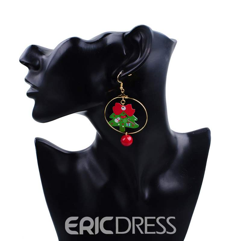 Ericdress Christmas Tree Earrings