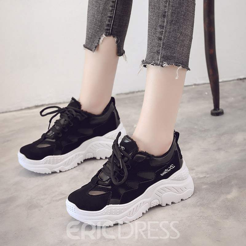 Ericdress Lace-Up Low-Cut Upper Women's Sneakers