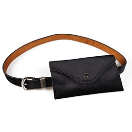 Ericdress Women PU Thread Waist Belt Bags