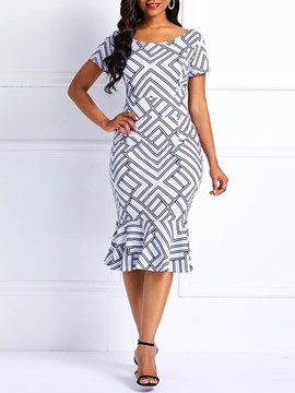 Ericdress Mermaid Geometric Women's Dress