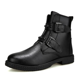 Ericdress Round Toe Plain Men's Martin Boots