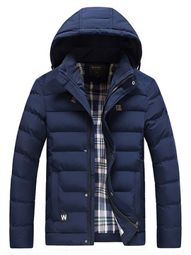 Ericdress Plain Hooded Thick Mens Casual Down Coats