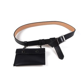 Ericdress Thread Women PU Waist Belt Bags
