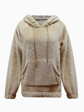 Ericdress Plain Pocket Regular Standard Winter Hoodie