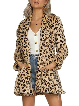 Ericdress Print Loose Regular Mid-Length Fall Overcoat