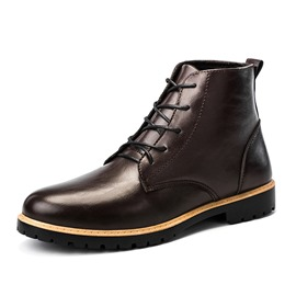 Ericdress PU Round Toe Plain Men's Winter Boots