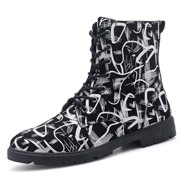 Ericdress PU Round Toe Lace-Up Men's Winter Boots