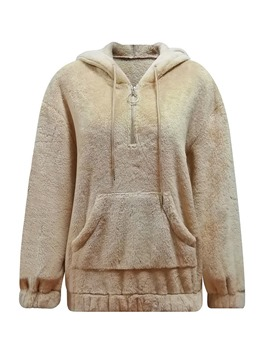 Ericdress Pocket Regular Plain Fleece Winter Hoodie