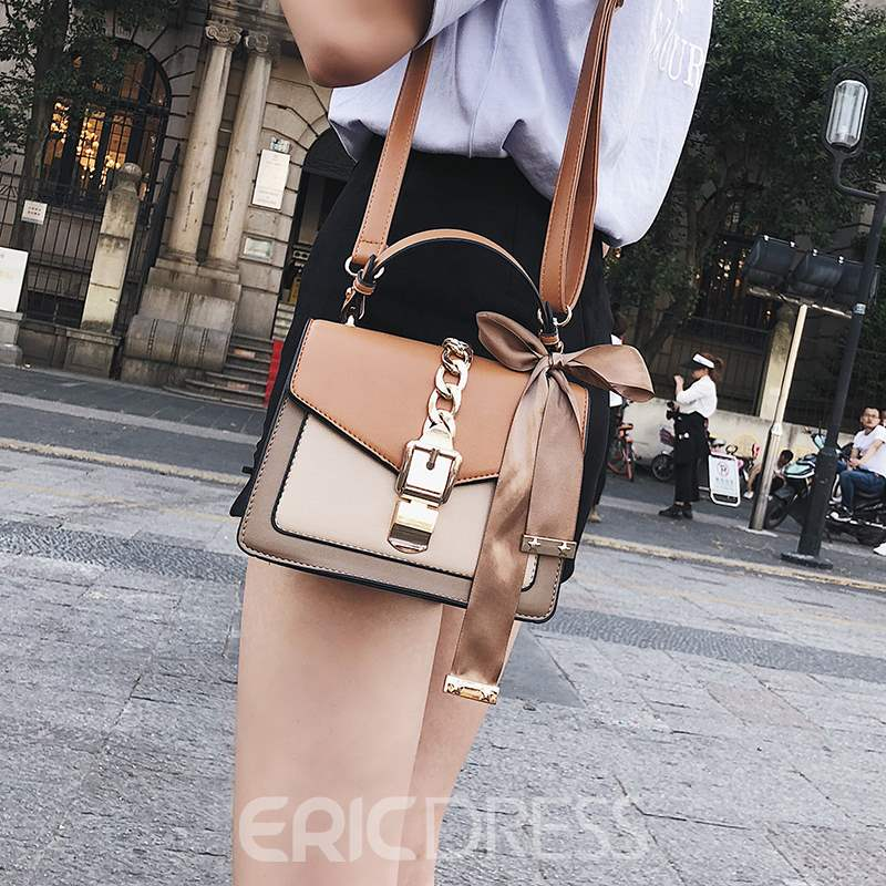 Ericdress Plain Chain Square Tote Bags