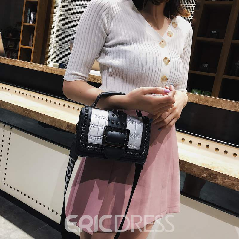 Ericdress Rivet Stone Rectangle Tote Bags
