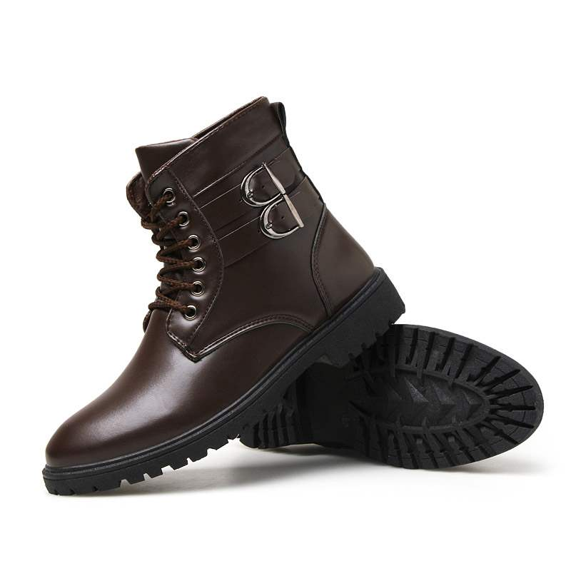 Ericdress PU Round Toe Lace-Up Front Men's Boots