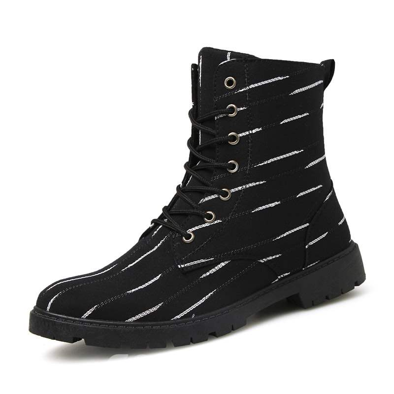 Ericdress Lace-Up Men's Martin Boots