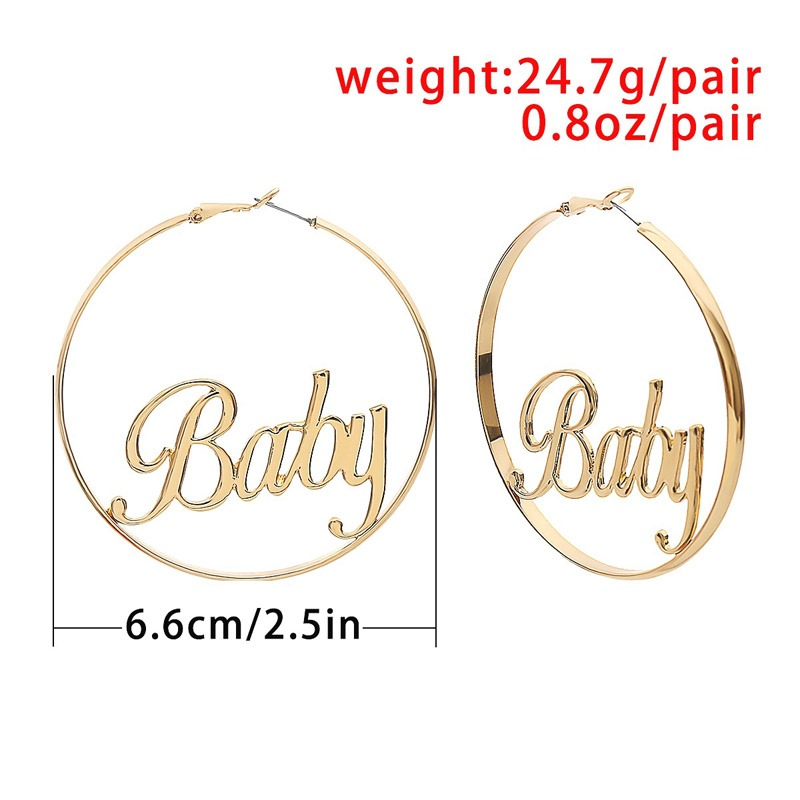 Ericdress Alloy BABY Hoop Earrings
