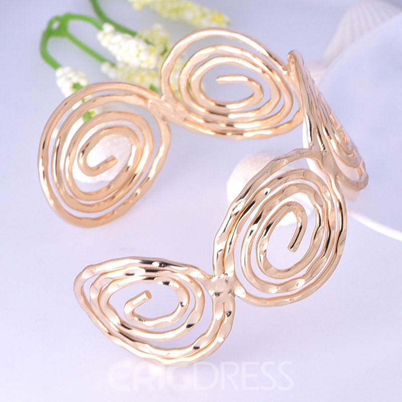 Ericdress Hollow Out Alloy Loop Bracelet