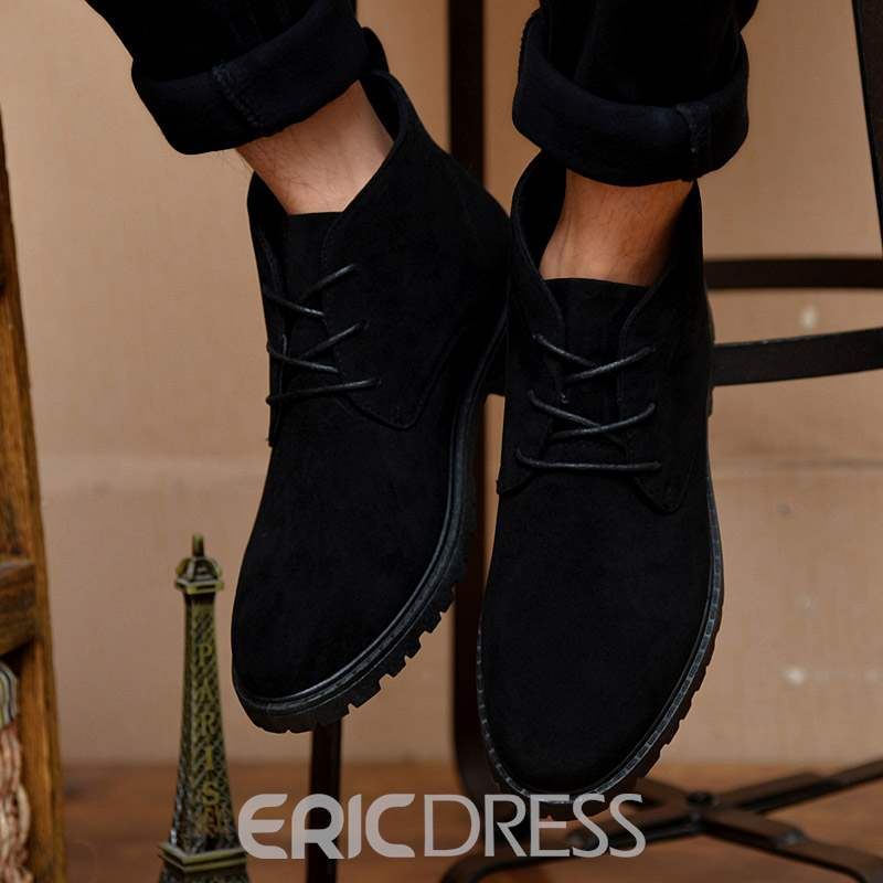 Ericdress Round Toe Lace-Up Men's Casual Shoes