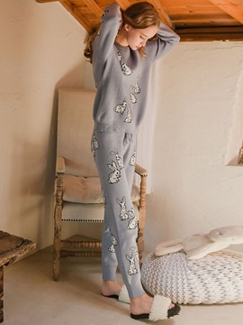 Ericdress Animal Round Neck Women's Pajama Set