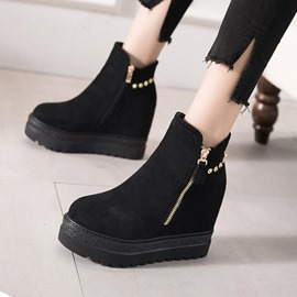 Ericdress Plain Side Zipper Platform Women's Ankle Boots