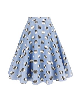Ericdress Expansion Knee-Length Print Casual Skirt