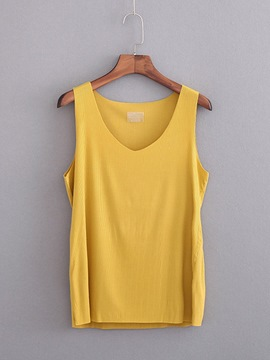 Ericdress Cotton Blends Plus Size Tank Top
