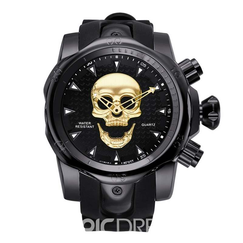 Ericdress Quartz Multiple Skull Watch