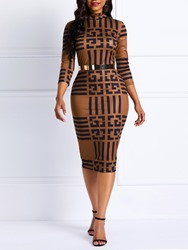 Ericdress African Fashion Geometric Casual Pencil Dress(Without Waistband) thumbnail