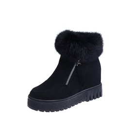 Ericdress Hidden Elevator Heel Side Zipper Women's Snow Boots
