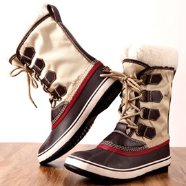 Ericdress Lace-Up Front Waterproof Patchwork Women's Winter Boots