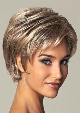 Short Type Layered Straight Women Wig 10 Inches