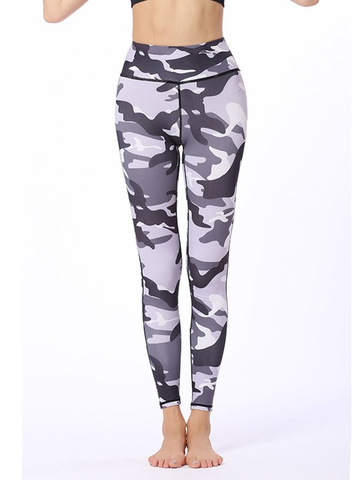 Ericdress Polyester Camouflage Quick Dry Print Leggings